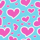 Coeurs roses - modèle sans couture de vecteur Photos libres de droits