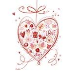 coeurs rouges Élément de conception Sauvez le fond de date Image stock