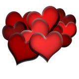 Coeurs rouges Images libres de droits