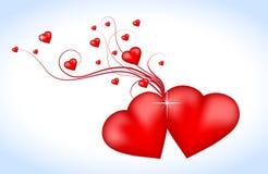 Coeurs rouges Photographie stock libre de droits