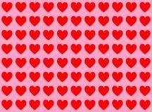 Coeurs rouges illustration de vecteur