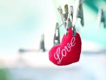 Coeurs rouges, amour pour la Saint-Valentin Photos libres de droits