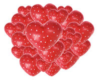 Coeurs rouges d'amour Photos libres de droits