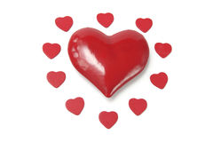 Coeurs rouges d'amour image stock