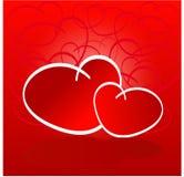 Coeurs rouges d'amour Photo libre de droits