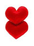 Coeurs rouges d'isolement sur le fond blanc Concept de l'amour Photo libre de droits