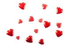 Coeurs rouges de chocolat Image libre de droits
