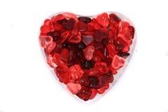 Coeurs rouges de sucrerie de gelée Image stock