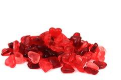 Coeurs rouges de sucrerie de gelée Images libres de droits