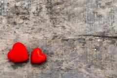Coeurs rouges de valentine Image libre de droits