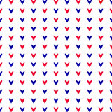 Coeurs rouges et bleus Configuration sans joint Images stock
