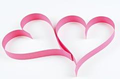 Coeurs rouges faits de papier ; Concept de Saint-Valentin image libre de droits