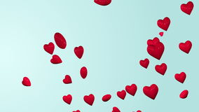 Coeurs rouges flottant le fond banque de vidéos