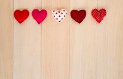Coeurs rouges heureux avec l'espace vide pour épouser et anniversaire Images libres de droits