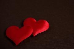 Coeurs rouges - le jour de valentine Photographie stock libre de droits