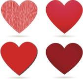 Coeurs rouges pour le jour de valentines Image stock