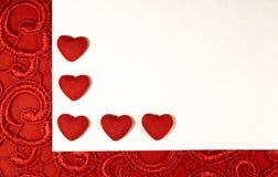 Coeurs rouges pour le jour du ` s de Valentine Images libres de droits