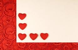 Coeurs rouges pour le jour du ` s de Valentine Image stock