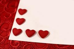 Coeurs rouges pour le jour du ` s de Valentine Image libre de droits