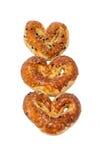 Coeurs salés turcs de biscuits Images stock