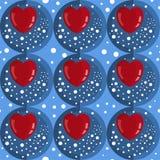 Coeurs sans couture de rouge de modèle photographie stock