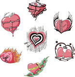 Coeurs stylisés Photo libre de droits