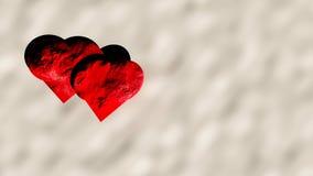 Coeurs sur la neige Images libres de droits