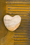 Coeurs sur la rouille photographie stock