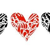Coeurs sur le blanc Photos stock