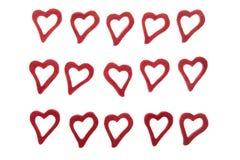 Coeurs sur le fond blanc Image libre de droits