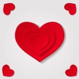 Coeurs sur le fond gris Image stock