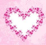 Coeurs sur le fond rose modifié. Vecteur illustration libre de droits