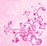 Coeurs sur le fond rose modifié. Vecteur illustration de vecteur