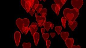 Coeurs sur le noir illustration de vecteur