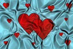 Coeurs sur un fond de ondulation Images stock