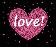 Coeurs sur un fond noir illustration libre de droits
