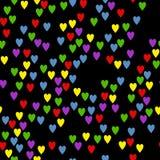 Coeurs sur un fond noir Photos libres de droits