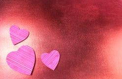 Coeurs texturisés Image libre de droits