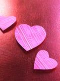 Coeurs texturisés Photos libres de droits