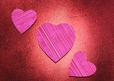 Coeurs texturisés Photographie stock
