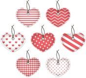 Coeurs texturisés roses Photos libres de droits