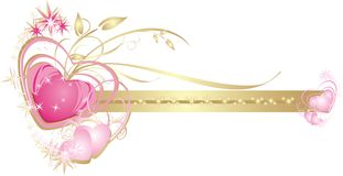 Coeurs. Trame décorative pour la carte de mariage Images libres de droits