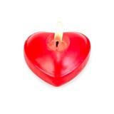 Coeurs un sous forme de bougies brûlantes Images libres de droits