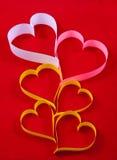 Coeurs, un symbole de Valentine \ 'jour de s Images stock