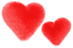 Coeurs velus Photo libre de droits