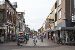 Coevorden, shopping street in the city center Stock Image