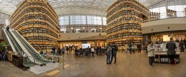 COEX购物中心的Starfield图书馆 库存图片