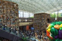 Coex starfield图书馆在汉城 免版税图库摄影
