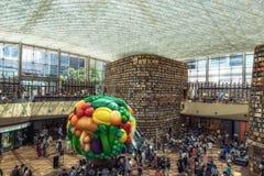 Coex starfield图书馆在汉城 库存照片