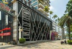COF夜总会在海南岛上的三亚市 免版税库存照片